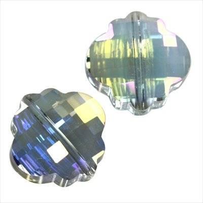 Cristaux de teinte argentée facettes plat perles ab petit nuage 18 mm