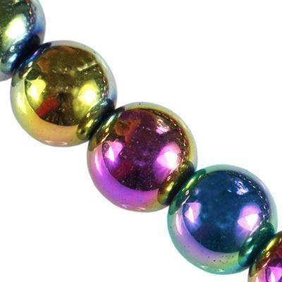 hematite beads rainbow 4 mm / semi-precious stone synthetic