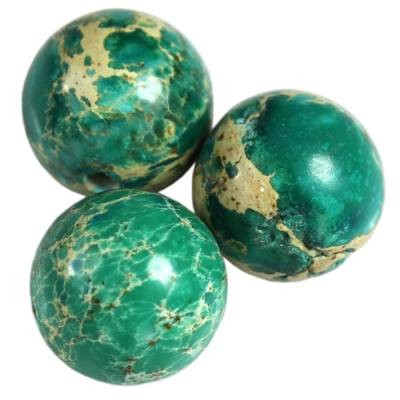 jaspis cesarski kule turkusowe 10 mm kamień naturalny barwiony