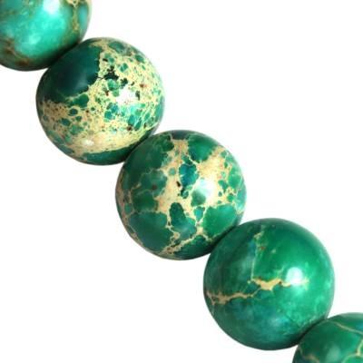 jaspis cesarski turkusowe 10 mm kamień naturalny barwiony