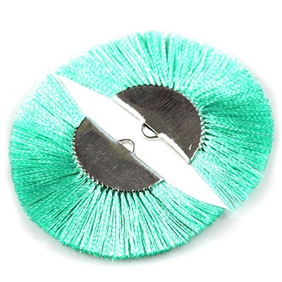 nappine /tassels metal clamp turquoise 4.5 cm