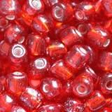 perles de graine de verre de 3,5 mm rouge