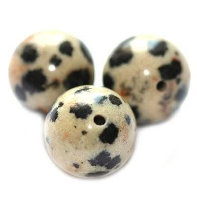dalamtian jasper beads 6 mm / semi-precious stone