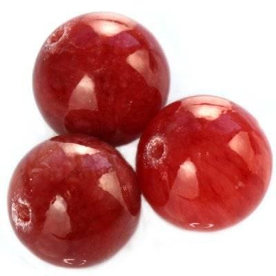kule marmur malinowy szklisty 10 mm kamień naturalny barwiony