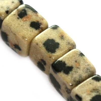 Pietra cubetti diaspro dalmata 8 mm / Pitere dure