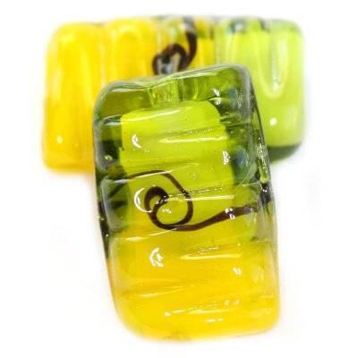 lampworks ondas fortes retângulos limão-verdes 15 x 25