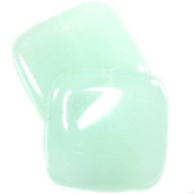 quartz sky blue squares 20 x 20 mm / semi-precious stone synthetic