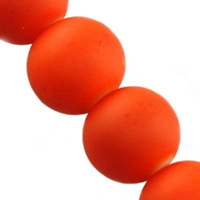 glass beads rubber coated orange 14 mm