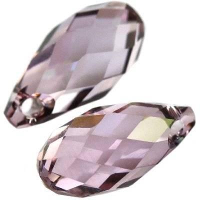 Swarovski briolette pendants crystal antique pink 11 x 5,5 mm