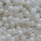 Toho beads round opaque-rainbow white 2.2 mm TR-11-401 beads perline Toho round opaque-rainbow white 2.2 mm TR-11-401