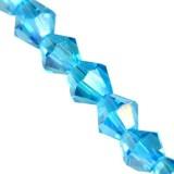 cristalli CrystaLine bicones aqua AB 4 mm