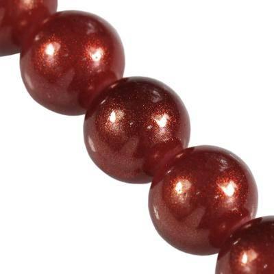 Gold Powder Classic Perlen ruby 8 mm