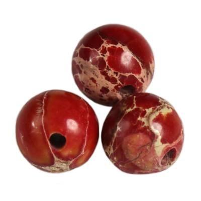 jaspis cesarski kule czerwone 4 mm kamień naturalny barwiony