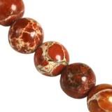 imperial jasper round czerwony 4 mm pierre teinte