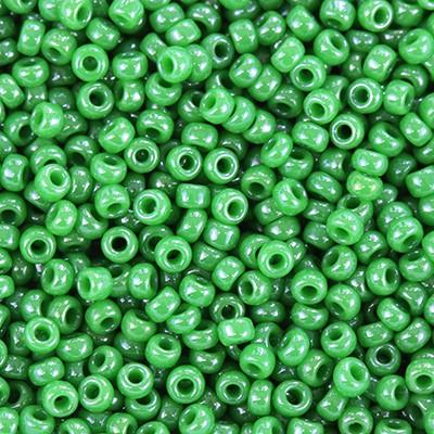 Miyuki round beads opaque luster green 11/0