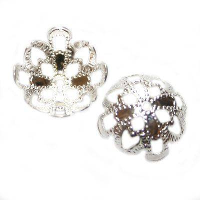 chapas decorativas flores 13 mm