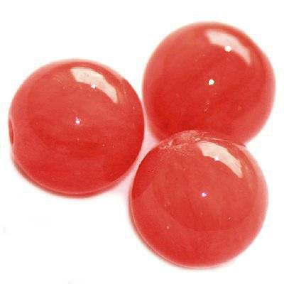 marble beads dyed glassy orange 12 mm / natural stone dyed