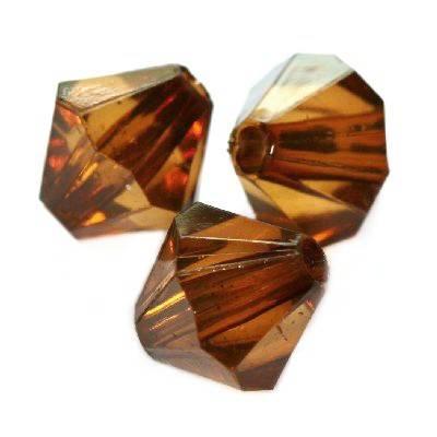 diamant kristalletjes kunststof bruin 10 mm
