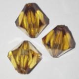 kryształki plastikowe diamentowe brązowe 10 mm
