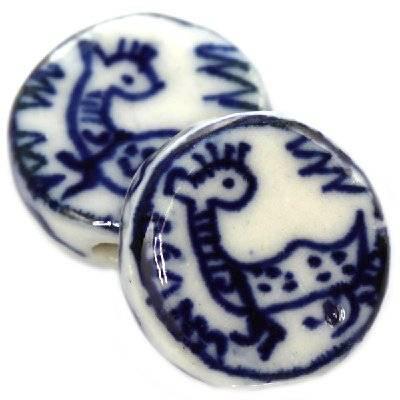 pastilles en porcelaine traditionnelles 19 mm