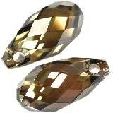 Swarovski briolette pendants crystal bronze shade 11 x 5,5 mm