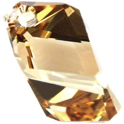 Swarovski cubist pendants crystal golden shadow 22 mm