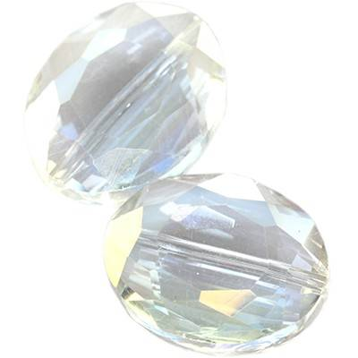 Cristaux de teinte argentée facettes plat perles ab amande 20 mm