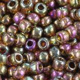 perline Toho round gold-lustered dk topaz 3 mm TR-08-459