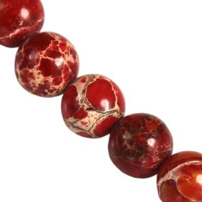 jaspis cesarski kule czerwone 6 mm kamień naturalny barwiony