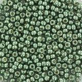 Perline Miyuki rocailles 11/0 duracoat galvanized sea green #11-4215