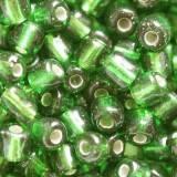koraliki drobne szklane szmaragd 3.5 mm