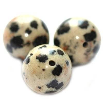 dalamtian jasper beads 10 mm / semi-precious stone
