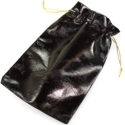 sachet brillant noir 13 x 18 cm
