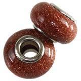 perles modulaires pierre sable du désert 10 x 14 mm