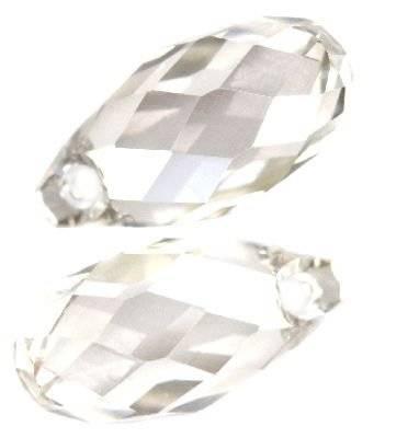 Swarovski briolette pendants crystal silver shade 11 x 5,5 mm