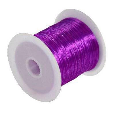 fil élastique violet 0.6 mm