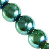 hematite beads green 4 mm / semi-precious stone synthetic