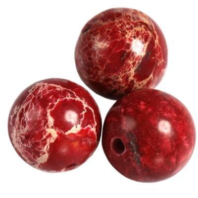 jaspis cesarski czerwone 8 mm kamień naturalny barwiony