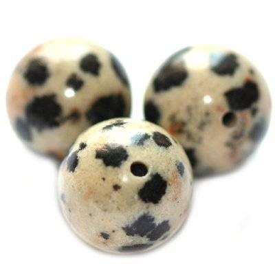 dalamtian jasper beads 12 mm / semi-precious stone
