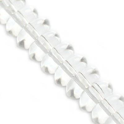 krążki przezroczyste 8 mm / koraliki szklane