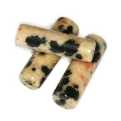 bâtons jaspe dalmatien 4 x 13 mm