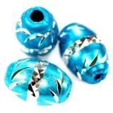 ovals aluminium beads azure 8,5 x 12,5