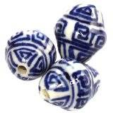 barrels traditional porcelain 15 x 12 mm