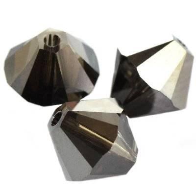 Swarovski bicone beads crystal silver night 6 mm