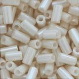 Toho beads bugle opaque-lustered lt beige 3 mm TB-01-123