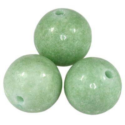kule jadeit pastelowy zielony 12 mm