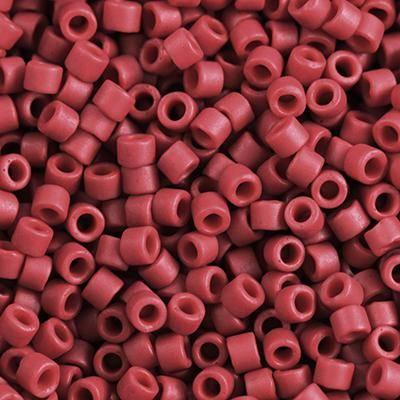 Miyuki kralen Delica matte opaque dark red dyed 1.6 x 1.3 mm DB-796