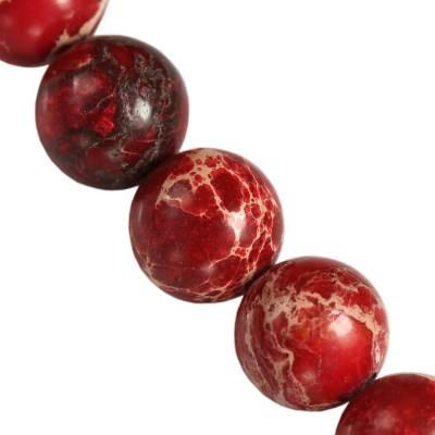 jaspis cesarski kule czerwone 10 mm kamień naturalny barwiony