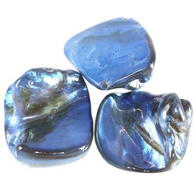 masa perłowa bryłki niebieskie