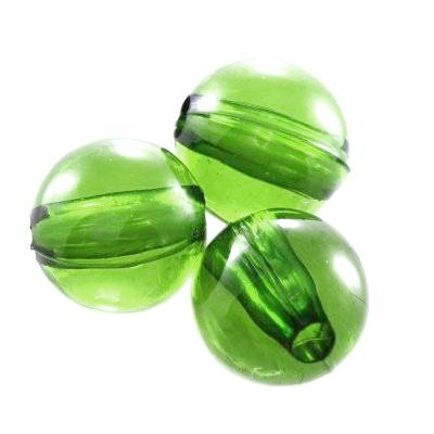 plastic round beads green 6 mm